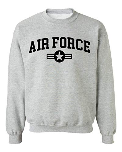 Promotion & Beyond US Military Gear Air Force Training PT Crewneck Sweatshirt, L, H. - Air Force Crewneck Sweatshirt