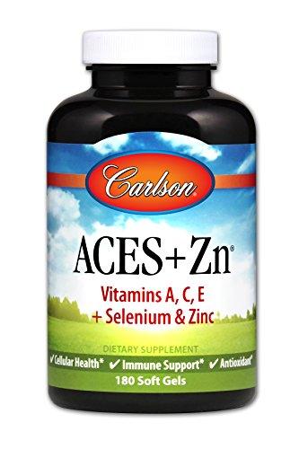 Carlson ACES + Zn, Selenium & Vitamins A C E, Zinc, 180 Soft