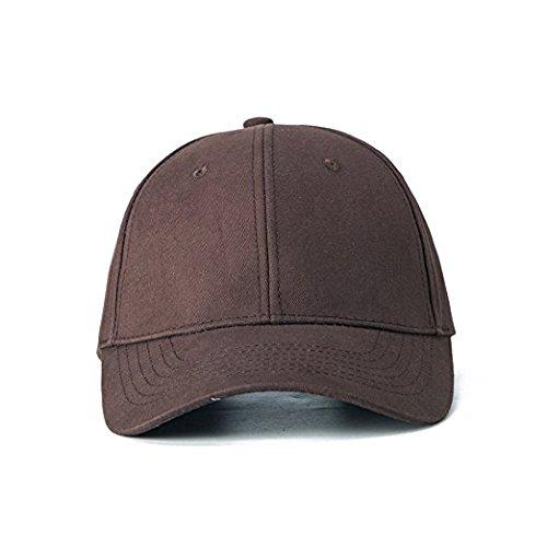 Edoneery Men Women Cotton Adjustable Washed Twill Low Profile Plain Baseball Cap Hat(Coffee)