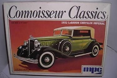 1932 Chrysler Imperial (MPC Connoisseur Classics 1932 Chrysler LeBaron Imperial 1:25 Kit Vintage 1970's)