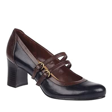 Naturalizer Women's Jameson,Inky Navy Giglio Leather/Coffee Bean Giglio PU,US 10.5 M