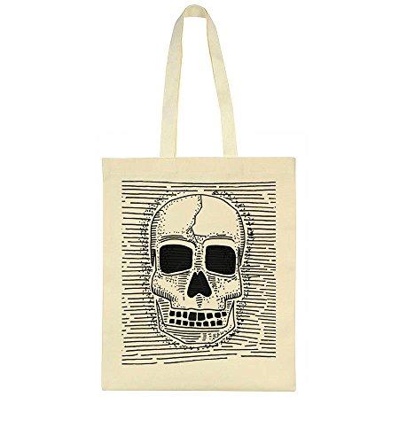 Skull Bag Tote Human Between Skull Lines Human Design pxqR0E