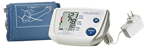 LifeSource One-Step Pro Blood Pressure Monitor for Upper Arm w/ Small Cuff (UA-767PSAC) by LifeSource