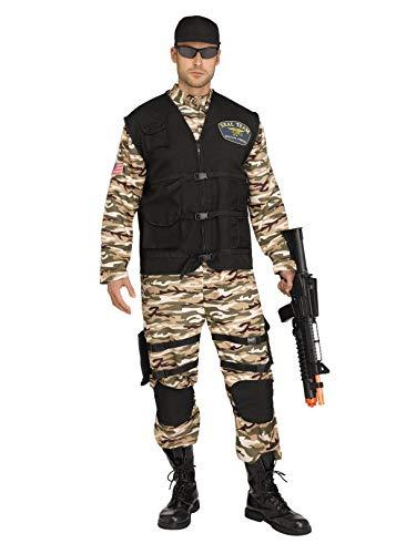 Fun World Men's S.F. Commando, Multi Plus Size up to 6'2