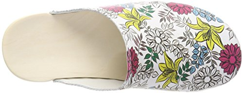 Weiß 080 Multicolore Mules Femme pour Berkemann Pink Blüten xZqvHRw
