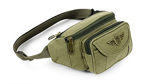 Butt Pack Khaki - K-Martins Waist bag pack Running Fanny Pack Bum Bag (Khaki)