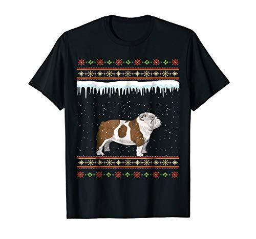 English Bulldog Ugly Christmas T-Shirt
