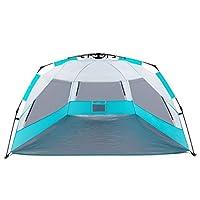 Easy Up Beach Tent, ALPRANG Portable Anti UV Beach Shelter Quick Sun Tent Sha...
