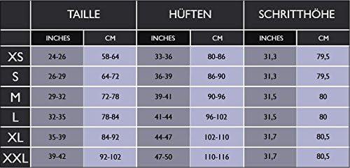 Freenord FITTECH Performance Damen Thermoaktiv Legging Leggins Strumpfhose Tights Laufhose Caprihose 3//4 Leggings Fitness Pilates Outdoor Radsport Running Schwarz//Grau, S