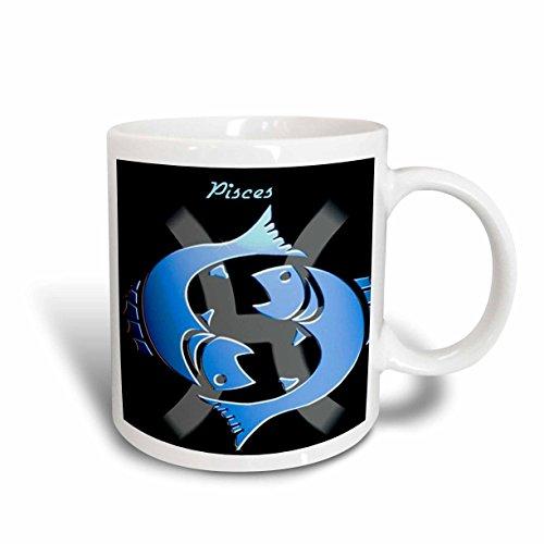 3dRose Pisces Zodiac Sign Ceramic Mug, (Ceramic Zodiac)