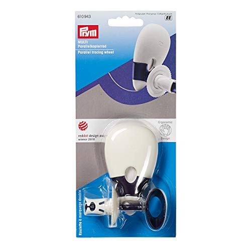 PRYM 610943 Parallel tracing wheel 'Multi' ERGONOMIC, 1 - Double Wheel Tracing