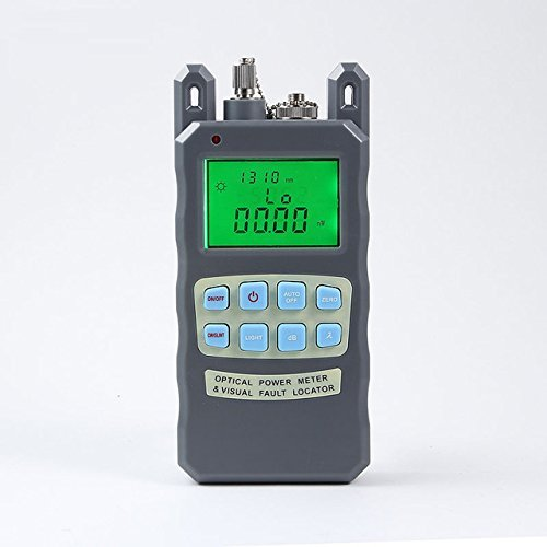 FiberShack - All in one Fiber Optic Power Meter/Fault Tester. Includes Strong 5mW VFL - With English instructions.