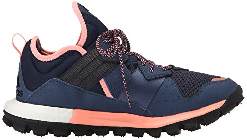 Adidas Performance Boost de respuesta Tr W zapatos corrientes, universitarios Azul marino / negro / Collegiate Navy/Black/Sun Glow Yellow