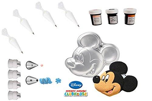 Wilton Disney Mickey Mouse Cake Pan Bundle of 14 Items