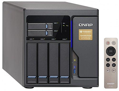 Qnap 6 Bay Thunderbolt 2 Das/NAS/iSCSI Ip-San Solution, Intel Core i3-6100 Dual Core (TVS-682T-i3-8G-US)