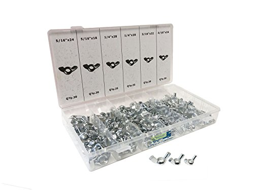 150 Piece Wing Nut Set Wingnut Assortment Pack by EZ Travel Collection