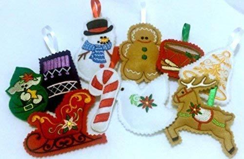 Felt Christmas ornaments - Set of 10 = #501 (Ornaments Felt)