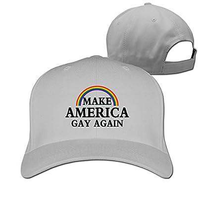 Make America Gay Again Rainbow Funny Adjustable Fitted Cap baseball Hats