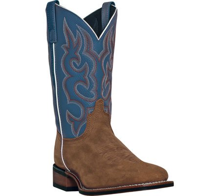 Laredo Men's Basic Stockman Cowboy Boot Square Toe Dark Brn US