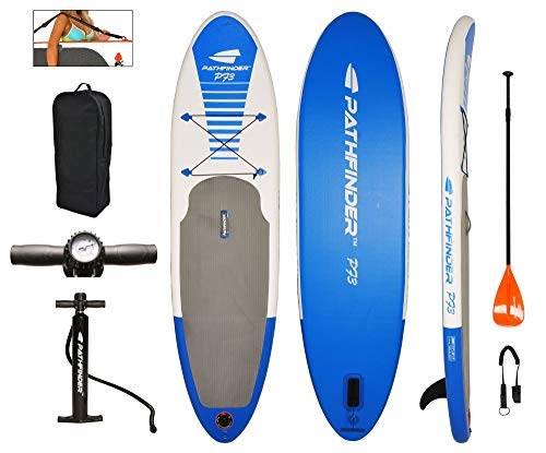 PathFinder Inflatable SUP Stand Up Paddleboard Set...
