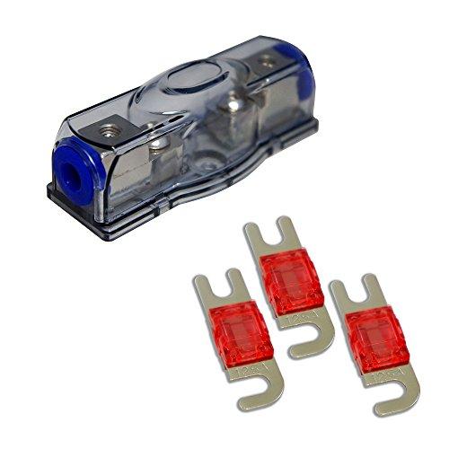 - Harmony Audio HA-MIDIFH Car Marine Stereo Mini ANL MIDI Fuseholder 125 Amp Fuses