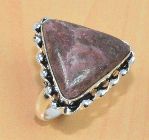 VICTORIANJEWELS 925 Silver Plated Brown Jasper Adjustable Big Ring Jewellery G05478