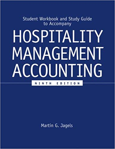 Student workbook and study guide to accompany hospitality management student workbook and study guide to accompany hospitality management accounting 9e 9th edition fandeluxe Choice Image