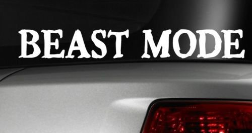 Beast Mode Decal Funny Car Vinyl Sticker Window JDM Work Out 7.5 Inches Long