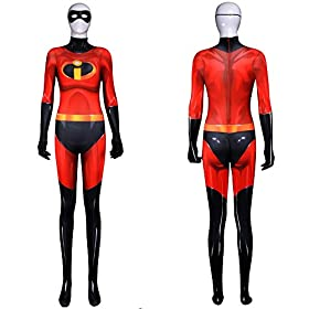 - 41112WCUdaL - Wolfbar Deluxe Family Parr Bodysuit Tights Zentai Adult Kids Halloween Cosplay Costume