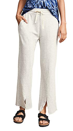 Vent Cropped Pant - SUNDRY Women's Cropped Vent Sweatpants, Grey, 1