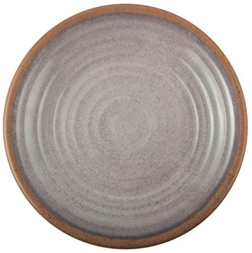 Melange 6-Piece 100% Melamine Dinner Plate Set (Clay Collection) | Shatter-Proof and Chip-Resistant Melamine Dinner Plates | Color: Light Grey