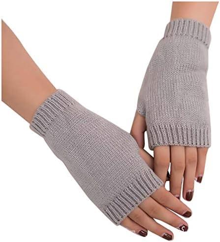Winter outdoor handschoenen dames meisjes houden warm gebreide armen vingerloze bont zachte warme handschoenen