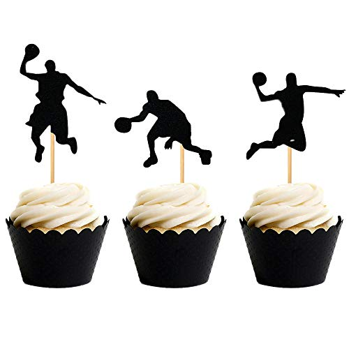 Basketball Birthday Decorations - 24 PCS JeVenis NBA Star Cupcake