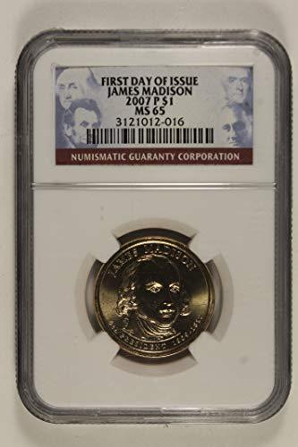 2007 P James Madison Presidential Commemorative Dollar MS65 NGC