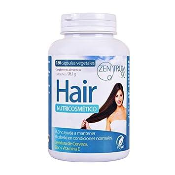 Complemento alimenticio de zinc, levadura de cerveza y vitamina E para ayudar a prevenir la caída del cabello – Suplemento de vitaminas para ...