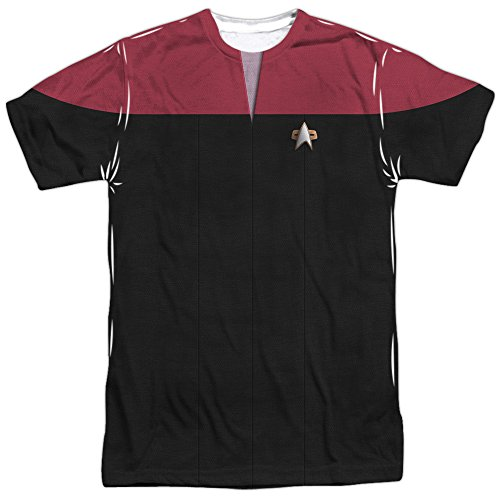 Star Trek Voyager Sci-Fi Action TV Series Red Shirt Adult Front Print T-Shirt