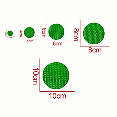 Longzhimei Reflective Stickers Safety Warning Tape Reflective Tape Self-Adhesive for Helmets Bicycles Strollers Wheelchairs and More - Pack of 25 Green: Automotive