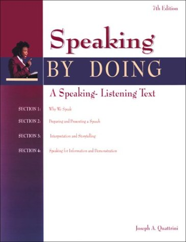 Speaking by Doing Student Edition