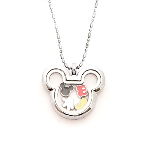 Mickey Inspired Floating Charms Locket with Mickey Inspired Charms (Mickey Pieces)