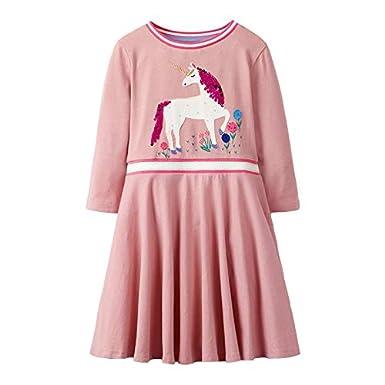 Spring Long Sleeve Sweet Strap Toddler Kids Girls Splicing Plaid Princess Dress