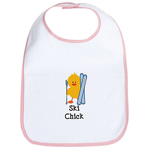 CafePress - Ski Chick Bib - Cute Cloth Baby Bib, Toddler Bib ()