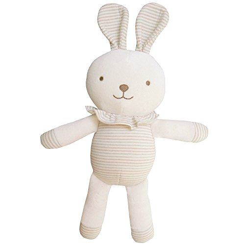 JOHN N TREE Organic Cotton Baby First Doll - Lovely Lace Rabbit, 11-Inches