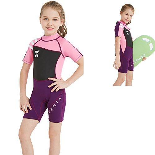 Dyung Tec Kids Wetsuits for Boys Girls 2.5mm Premium Neoprene Childs Shorty  Swimsuit Back Zip 14534b3ec