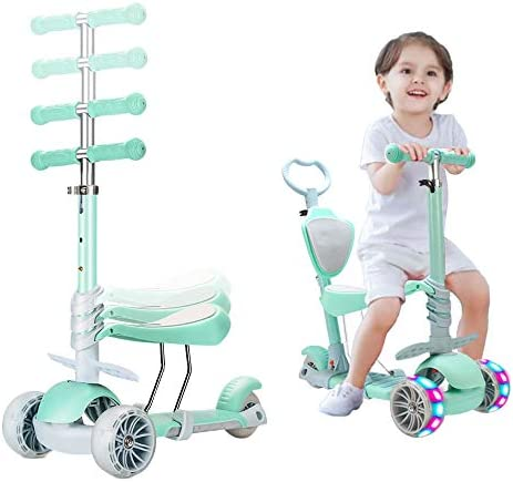 Arkmiido Scooters for Kids Kick Scooter with Adjustable Height Scooter for Toddlers 3-6 Years Old