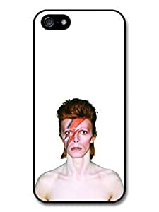 AMAF ? Accessories David Bowie Eyes Closed Lighting Portrait case for iPhone 5 5S