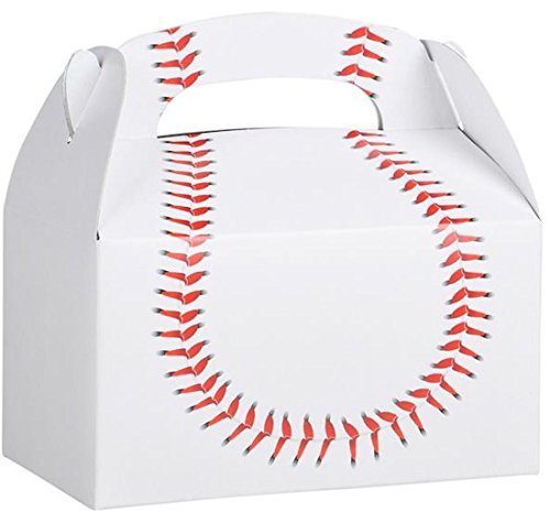 Birthday Party Baseball Treat Box Favor Boxes Favors Sports]()