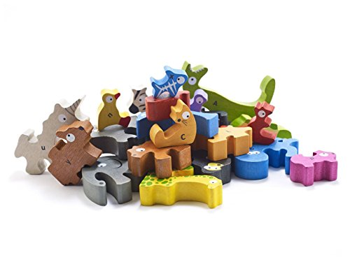 BeginAgain - Animal Parade A to Z Puzzle and Playset, Make Learning Fun and Help Spark Your Child's Imagination, Educational Wooden Alphabet Puzzle (For Kids 2 and Up)