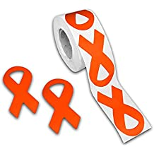 Leukemia Awareness Ribbon Stickers (1 roll)