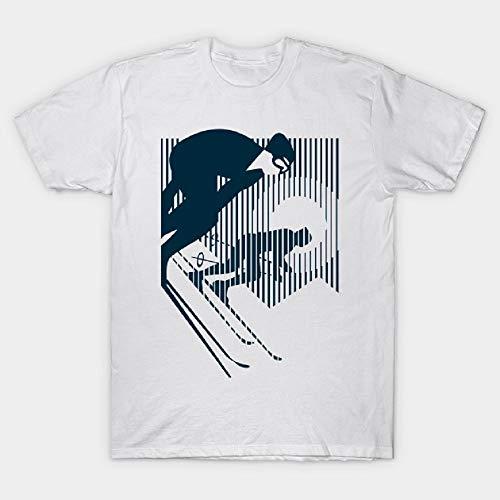 Alpine Ski Package - Alpine Skiing Ski Downhill T Shirt for Men Funny Letter Print Short Sleeve Tees White