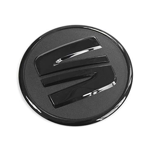 Seat 5F0103940 Logo Sign Engine Cover Emblem Engine Compartment Cover Sticker Black: